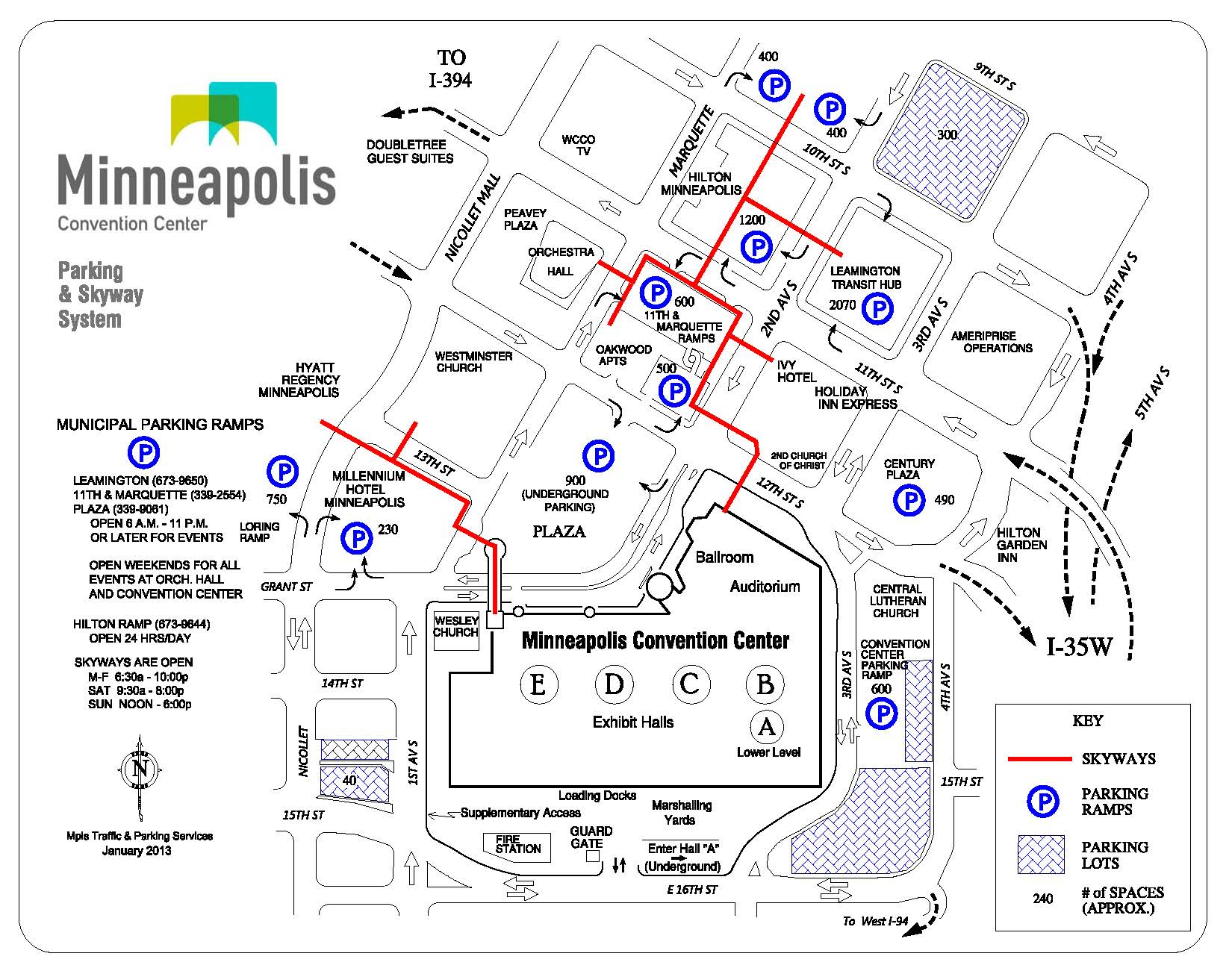 MCC City Map with Parking