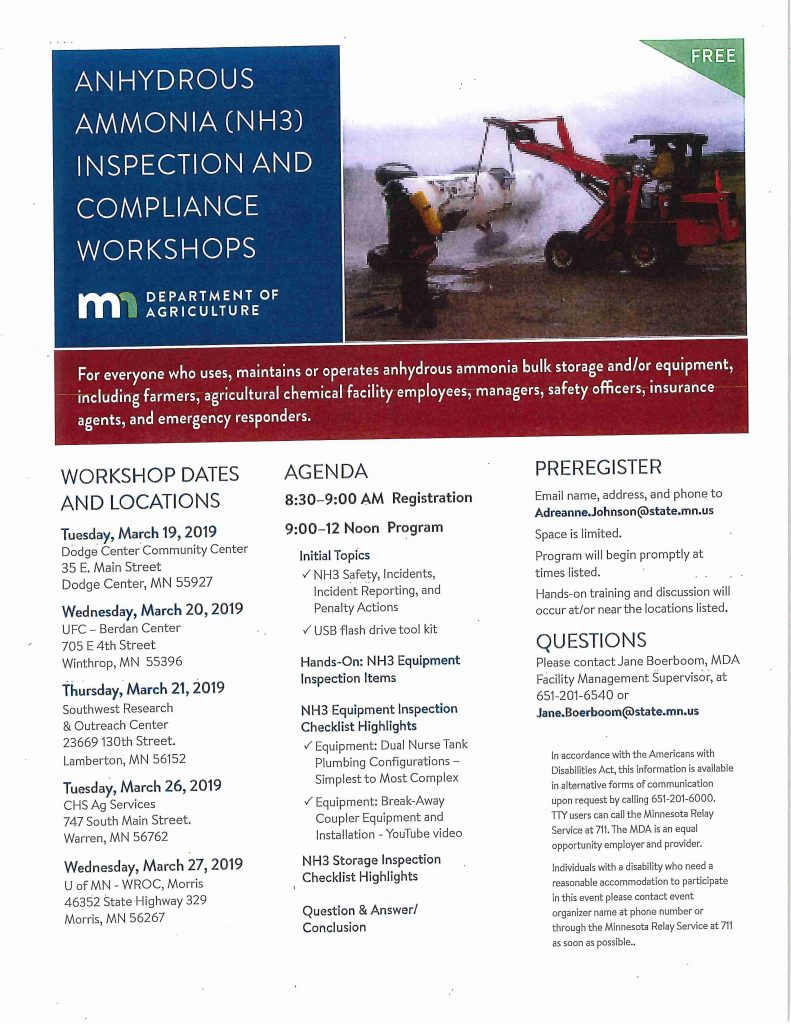 2019 NH3 workshop