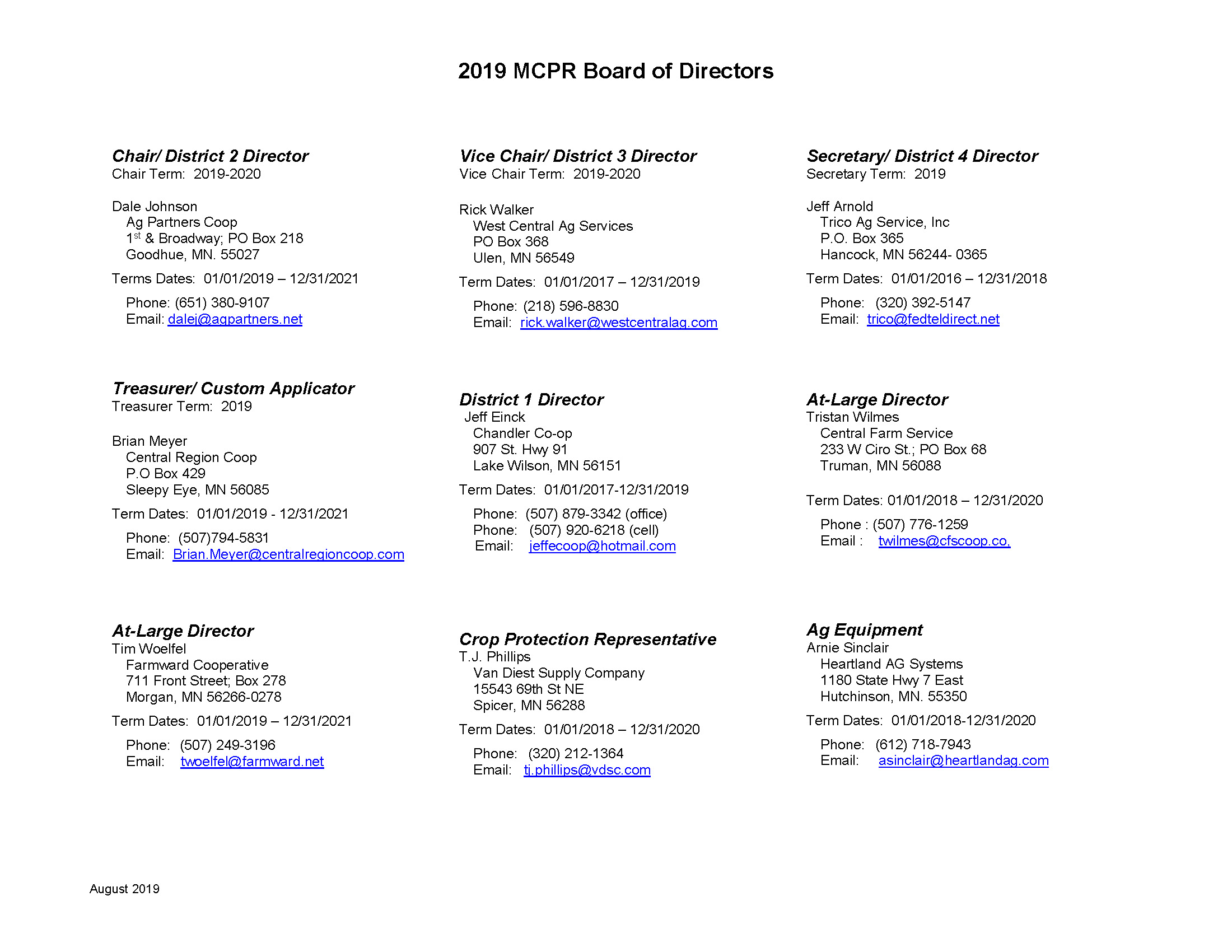 2019 MCPR Board of Directors_August21_2019_Page_1