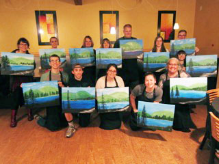 Cider Sip and Paint Activity