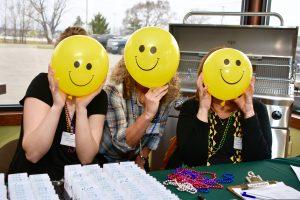 Smiley face balloons