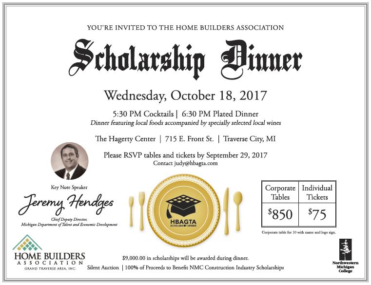 2017 Scholarship Dinner Invite