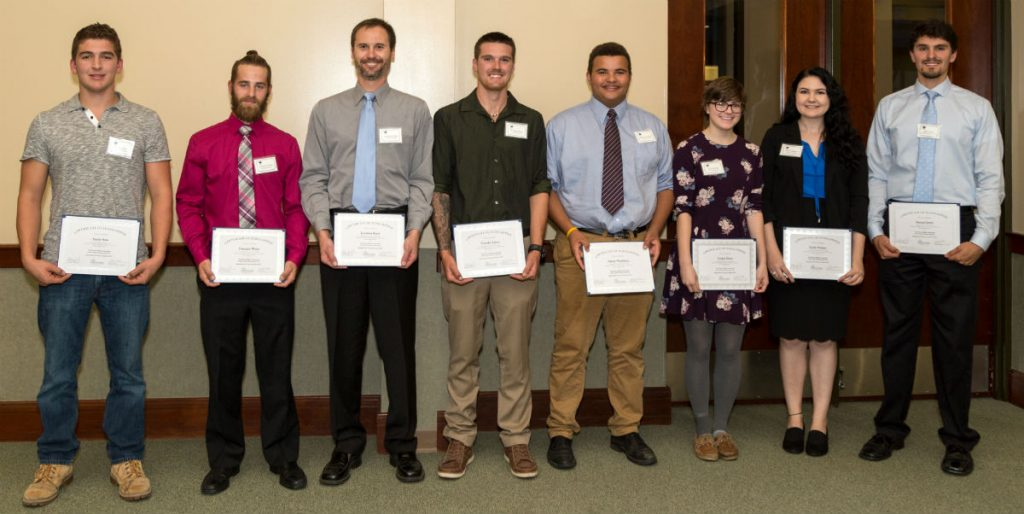 Scholarship Recipients October 2017