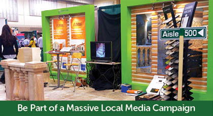 Be part of a massive local media campaign