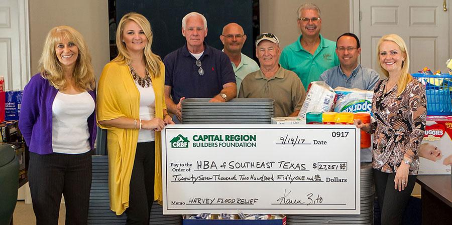 CRBA Harvey Donation