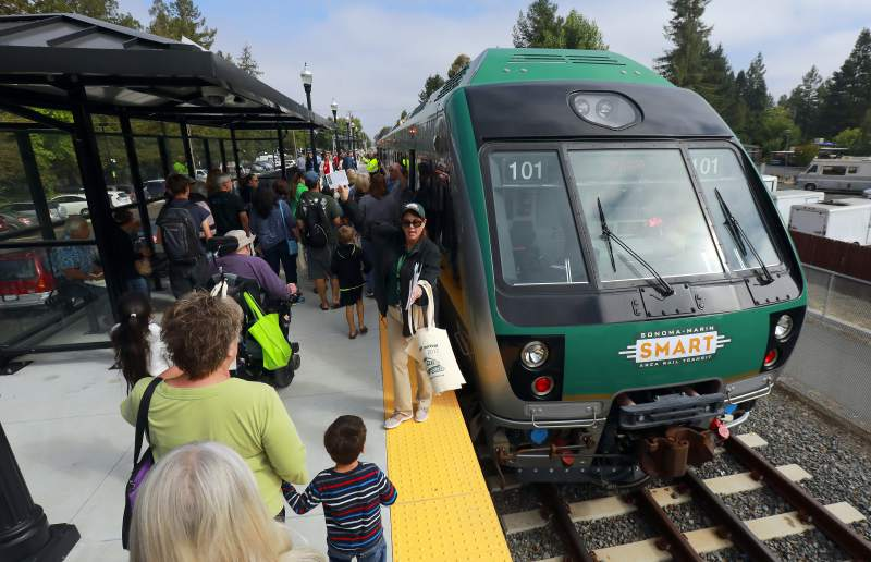 Developing transit options are allowing more people to set up shop/commute from and to Novato bike valley transportation transit parking festival parking