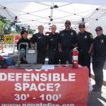 The Novato Fire Protection District at the Novato Festival of Art, Wine and Music