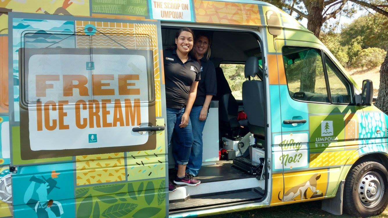 Umpqua Bank activity sponsor. Novato Chamber Ice Cream