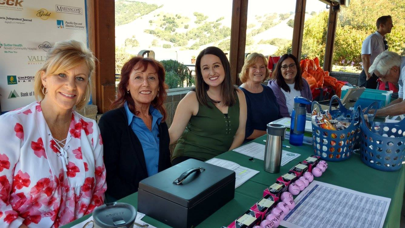 Novato CHamber Volunteers Carrie Lee Rafelina Maglio Eileen Joyce CHristina Niles Golf Tournament Marie Rios