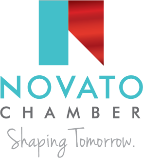Novato Chamber Logo N Blue Teal Red Ribbon Cutting New Business Government Policy Leadership City of Novato County of Marin San Rafael Chamber We Belong Shaping Tomorrow Shape Tomorrow FULL LARGE VERICLE