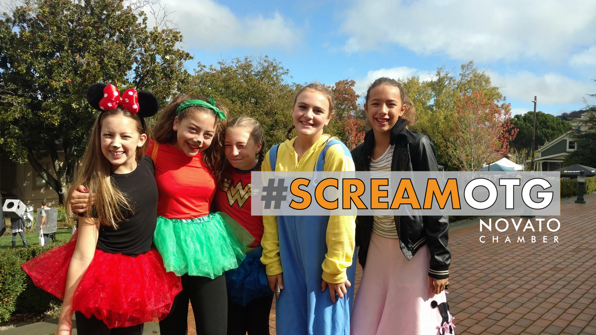 Novato Chamber Scream on the Green Halloween haunted house costume teens preteen novato north bay petaluma novato San rafael marin sonoma DNBA downtown City of Novato