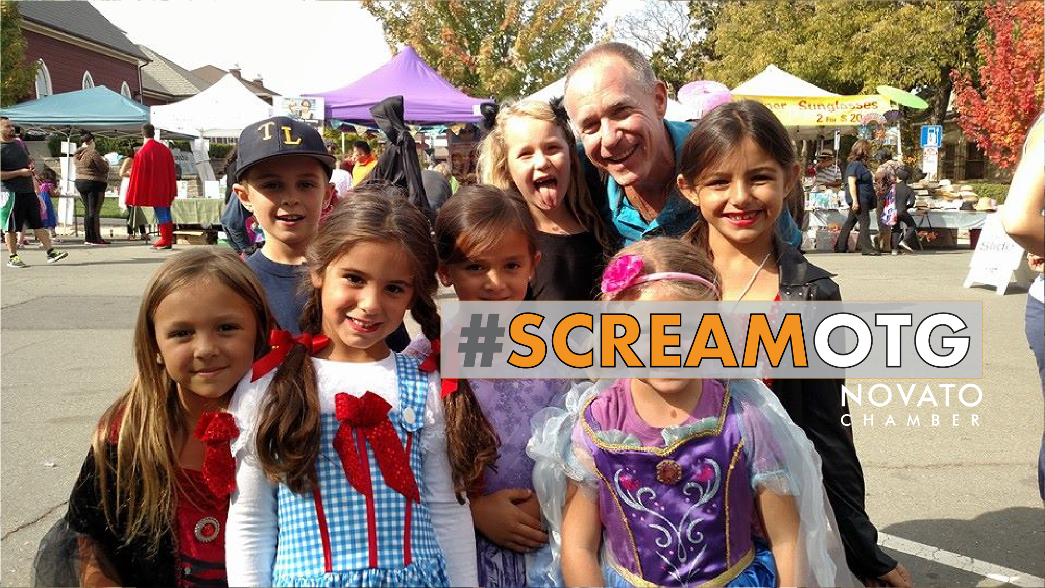 Novato Chamber Scream on the Green Halloween haunted house costume teens preteen novato north bay petaluma novato San rafael marin sonoma DNBA downtown City of Novato Rafelina Maglio Bank of Marin