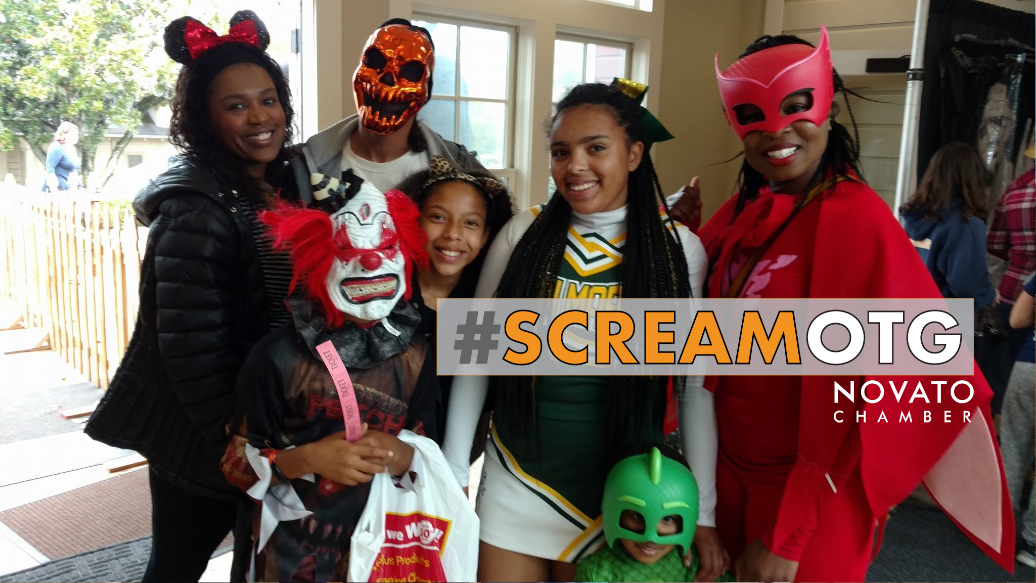 Novato Chamber Scream on the Green Halloween haunted house costume teens preteen novato north bay petaluma novato San rafael marin sonoma DNBA downtown City of Novato African American black richmond east bay