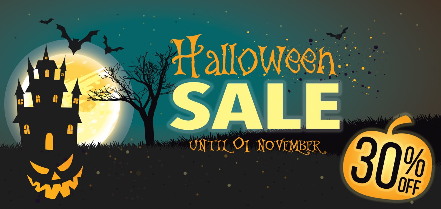 Halloween sale suport oportunities unique business support