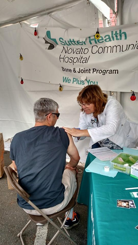 Flu sutter novato chamber free vaccine healthy salud