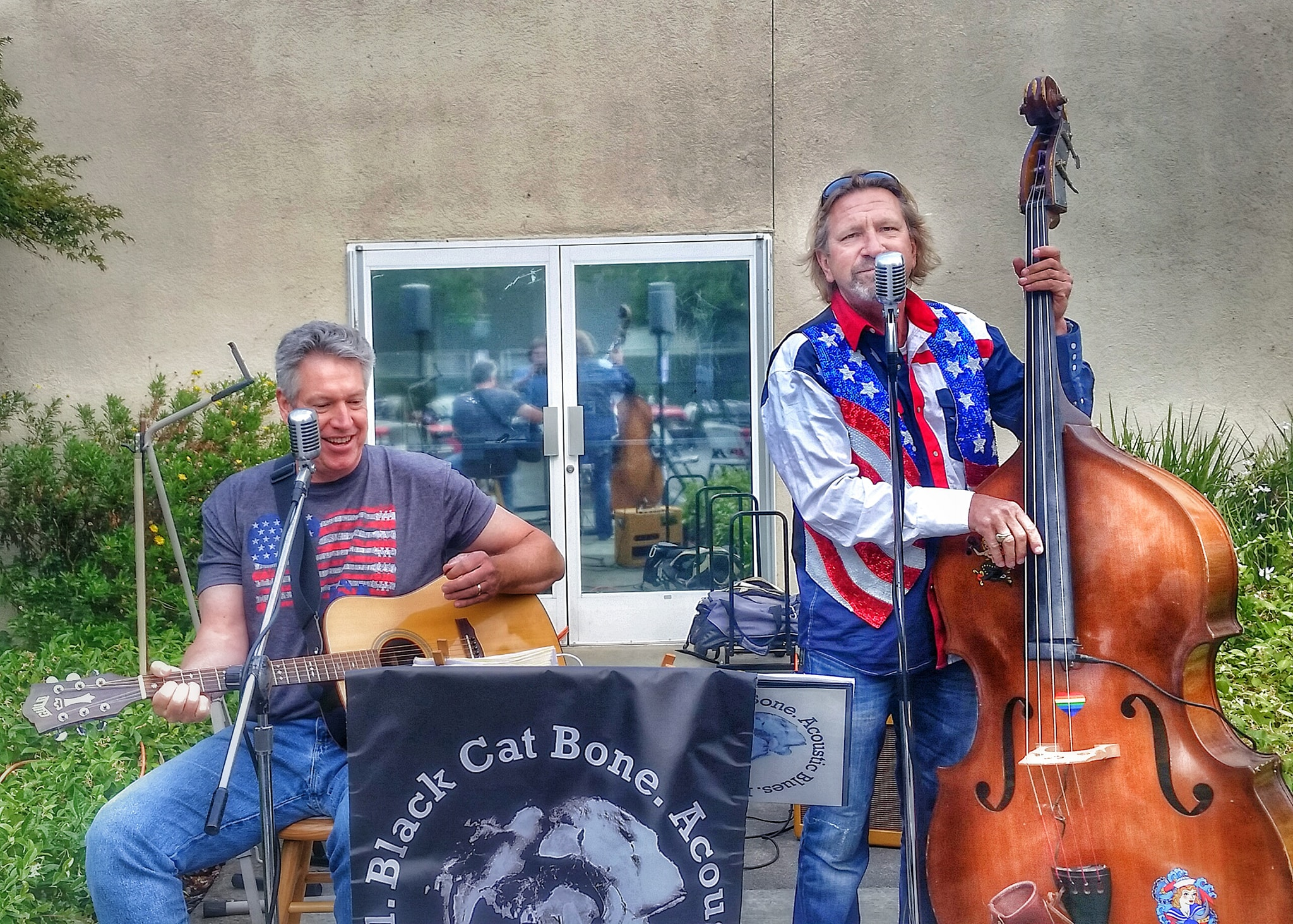 Black Cat Bone Band playing music at the Fourth of JUly Parade, Rob Sundbert Golf Tournamnet