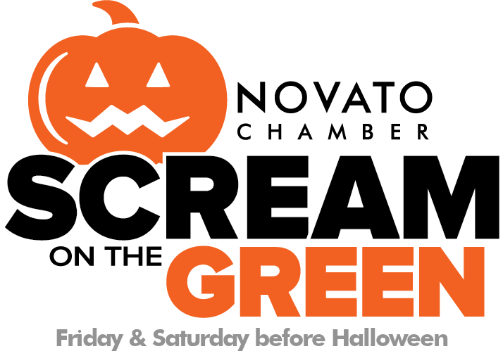 sCREAM ON THE GREEN logo date and things