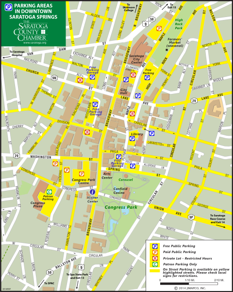 parking map downtown saratoga springs
