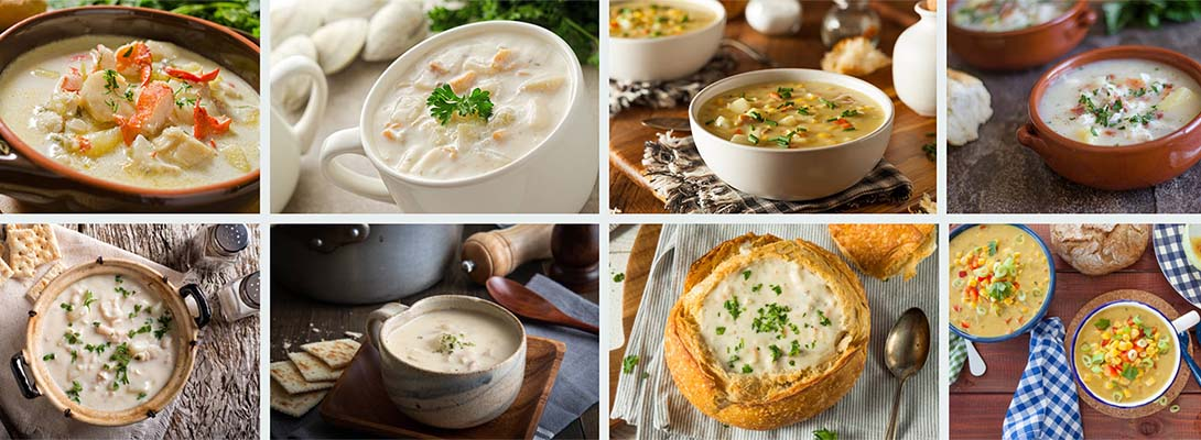 bowls of chowder