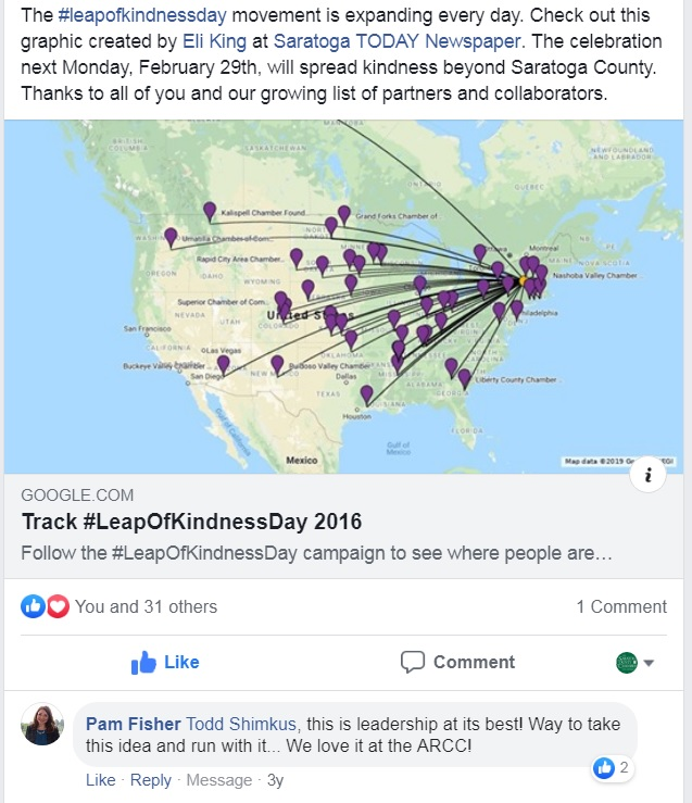 FB - Leap of Kindness Across the US