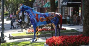 painted horse statue
