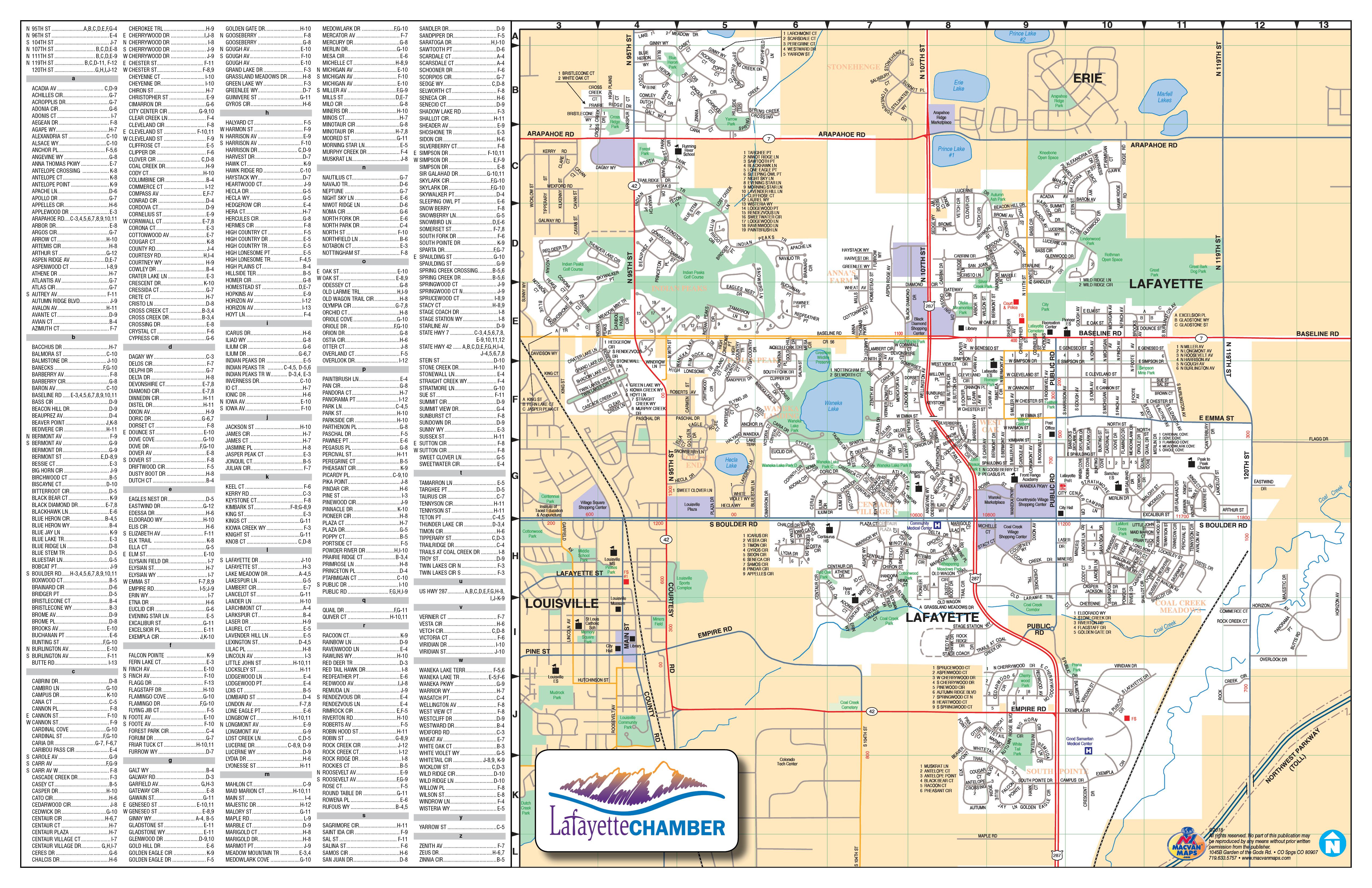 Lafayette City Map Lafayette Chamber of Commerce
