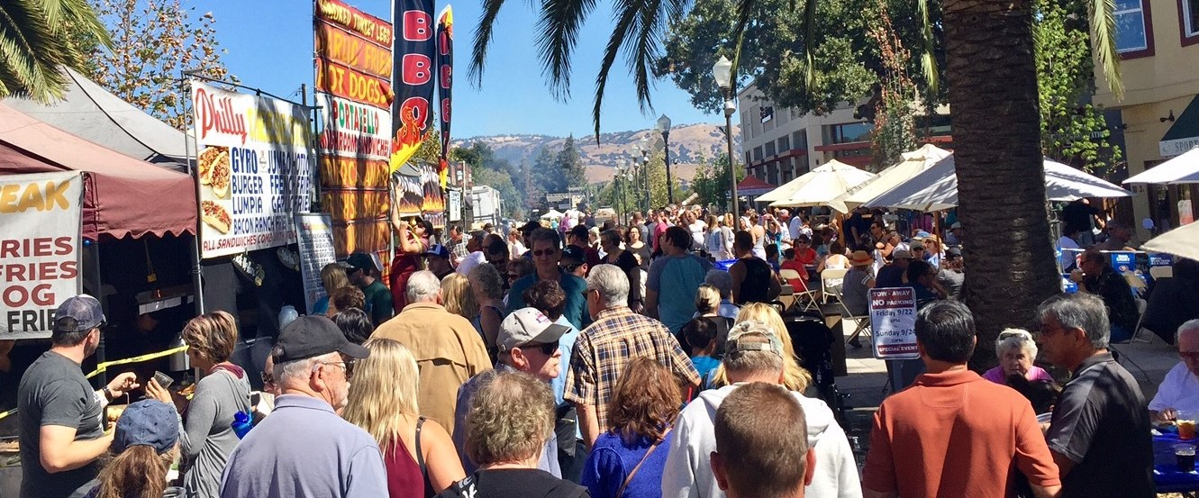 2017 Taste of Morgan Hill food court