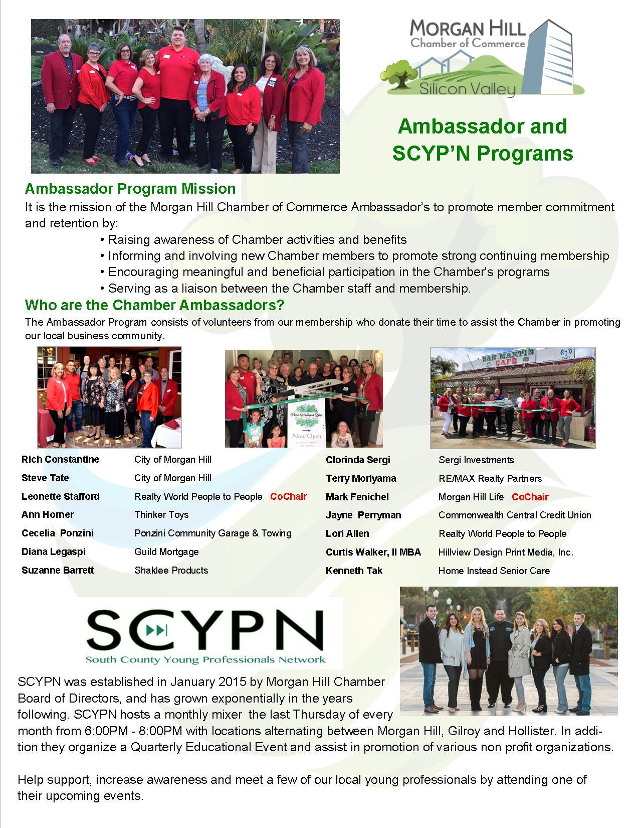 Ambassador SCYPN page