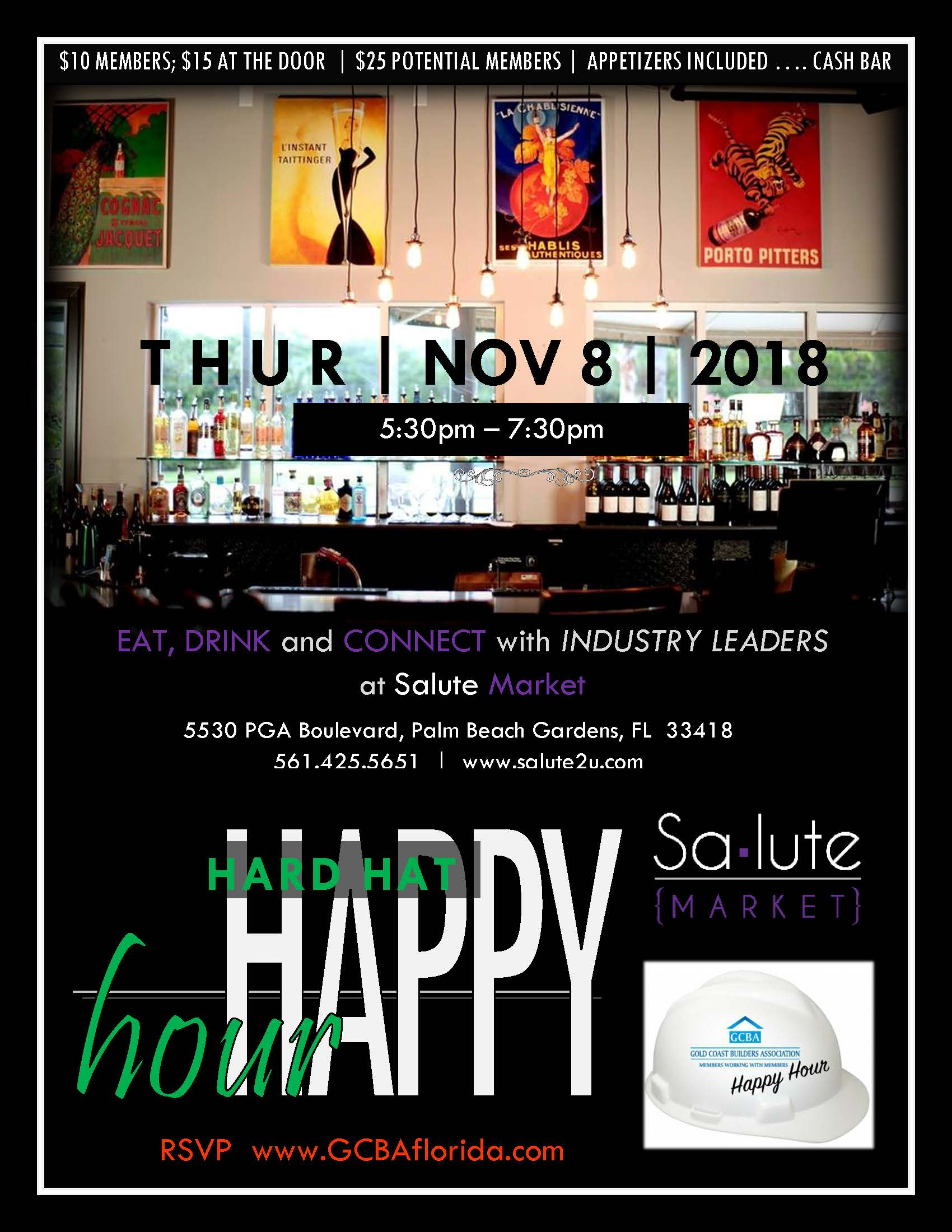 Hard Hat Happy Hour Flyer - November