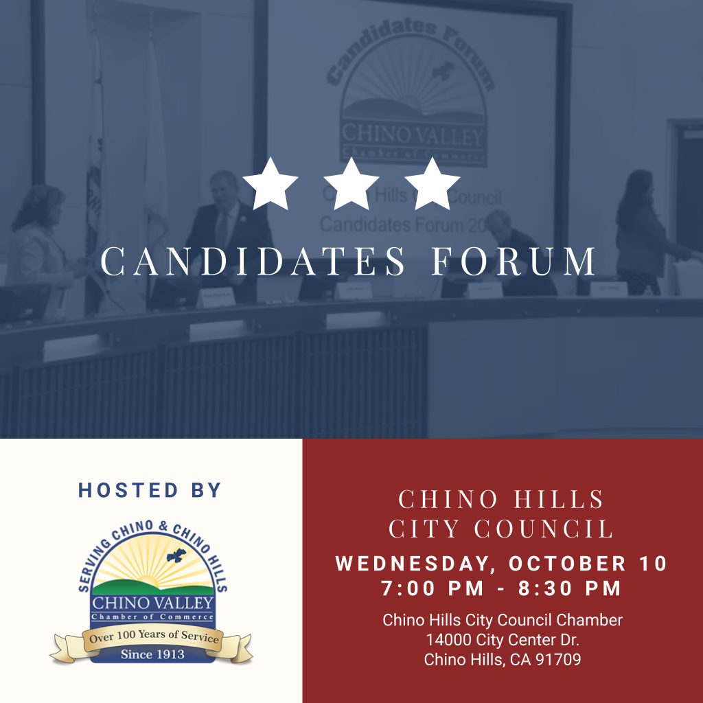 Candidate Forum for Chino and Chino Hills Hosted by the