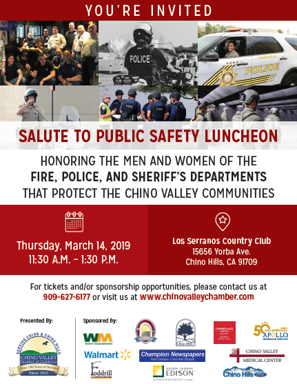 Salute to Public Safety Chino Valley Chamber of Commerce