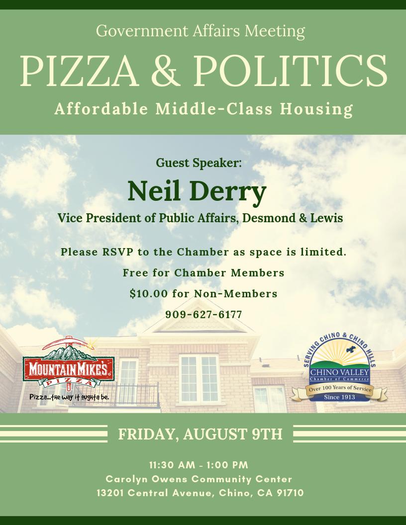 Pizza & Politics August 9 2019