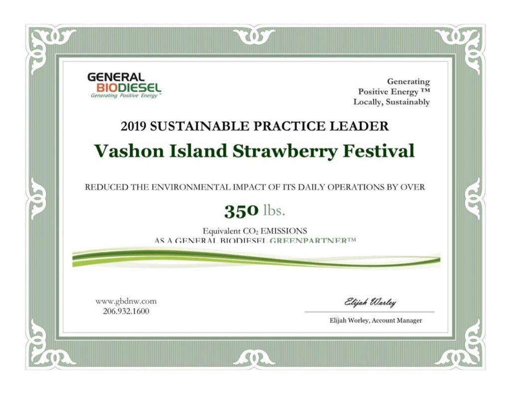 Certificate for Festival