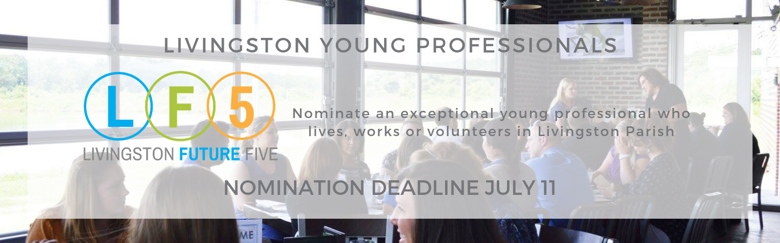 Livingston Future 5 Nominations due July 11