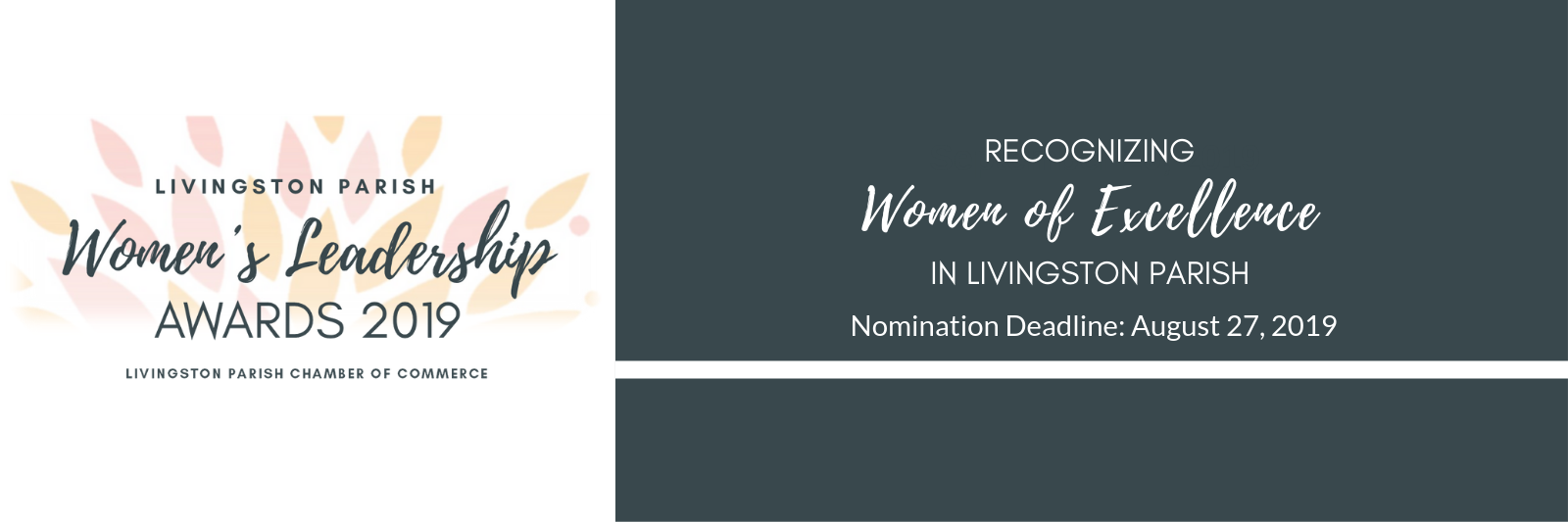 Women's Leadership Award Nominations Due Aug. 27