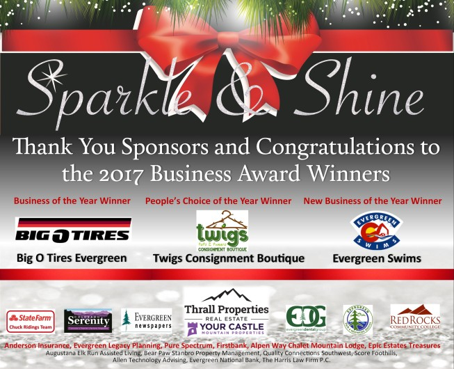 Our 2018 Sparkle & Shine event will be December 1st 5:30-9PM at the Wild Game in Evergreen.