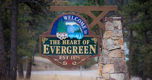 Welcome To Evergreen Sign
