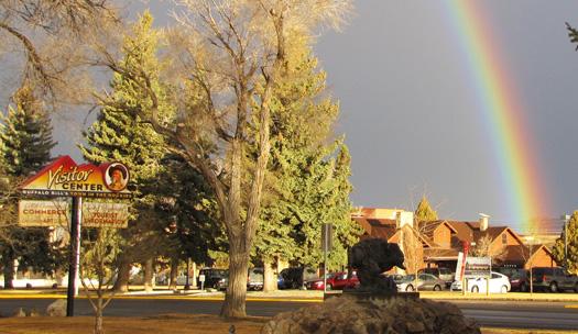 Rainbow over chamber