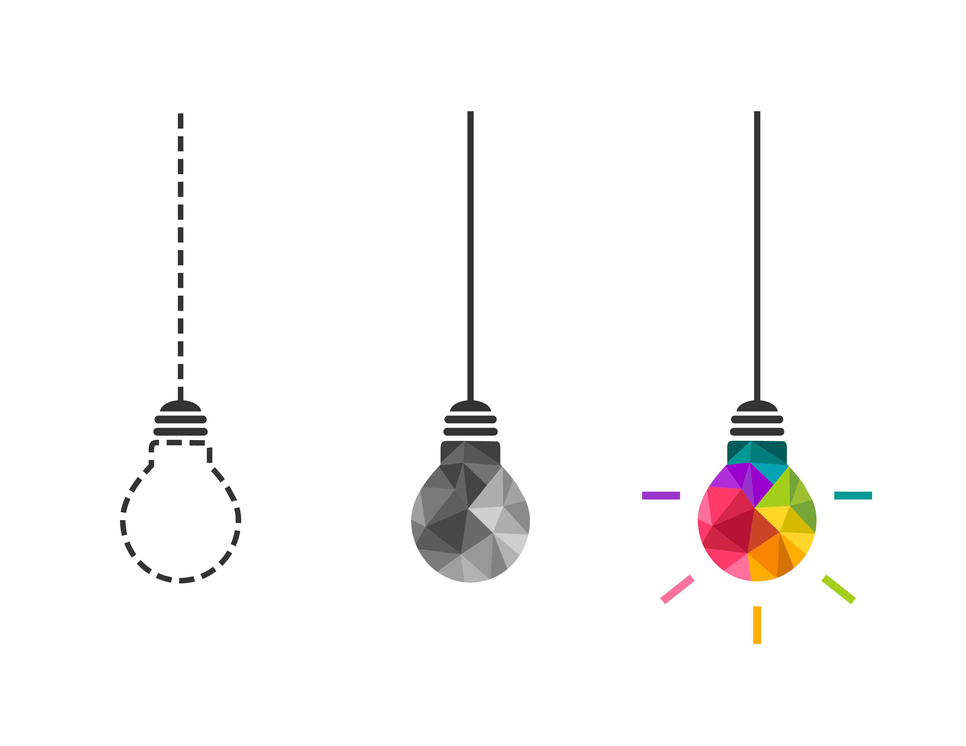 lightbulbs with borde mid