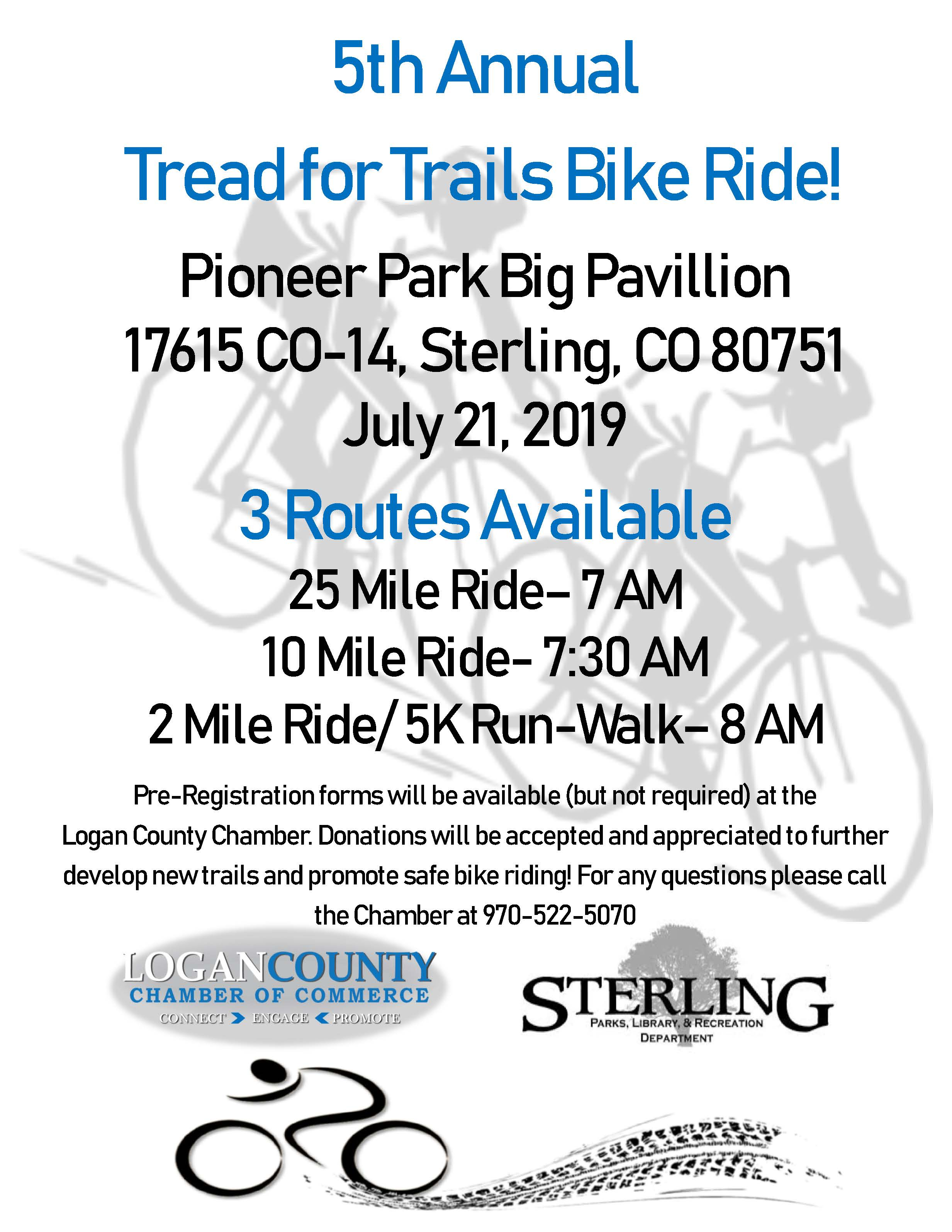 2019 Tread for Trails flyer