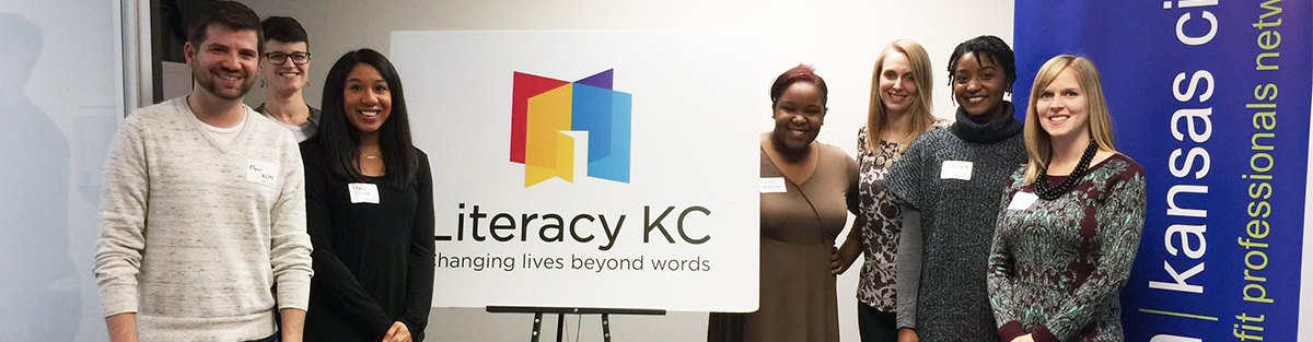 Young nonprofit professionals network board members tour local nonprofit Literacy KC