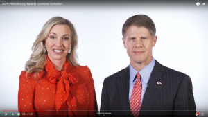Video Screenshot with Tavia and Clark Hunt