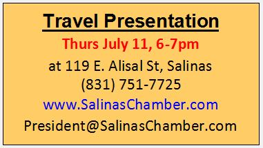 July 11 Travel Presentation box