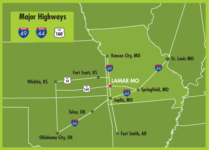 lamar barton county missouri highways
