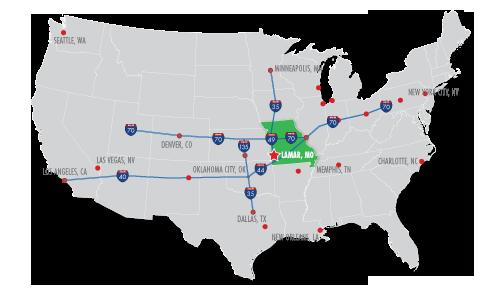 Economic Development Barton County Chamber Of Commerce - Us-map-with-missouri