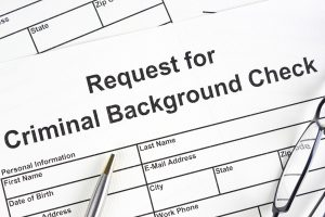 Criminal background check request form