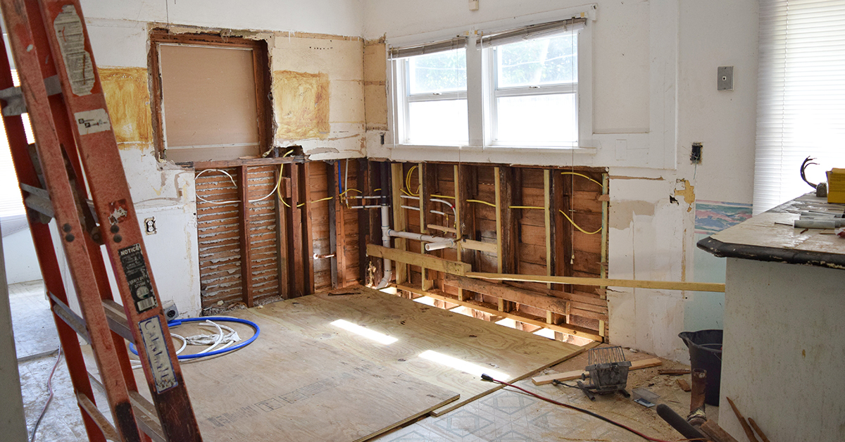 A behind the scenes look, mid-reno, after a property wholesaling transaction