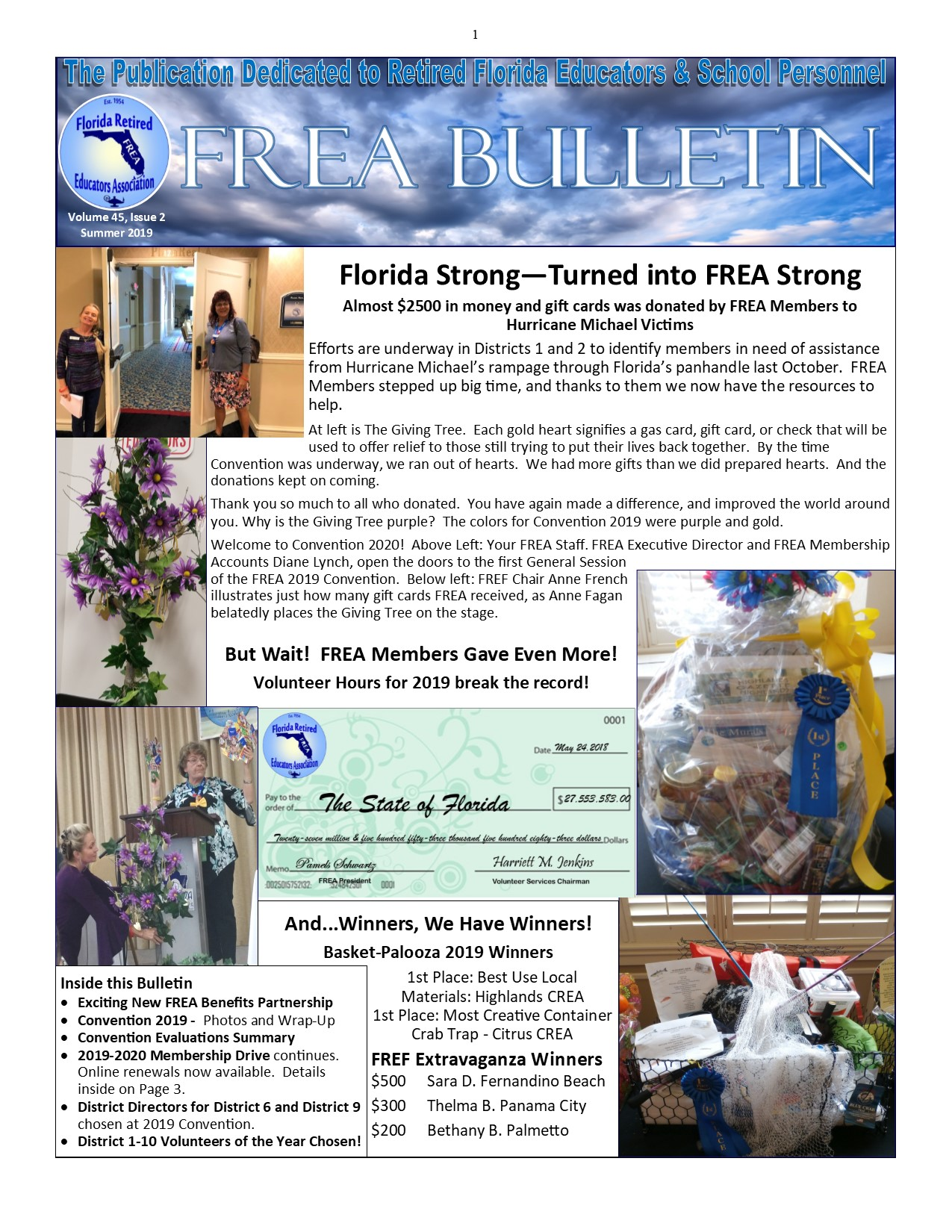 Summer Bulletin 2019 - Page 1 website banner