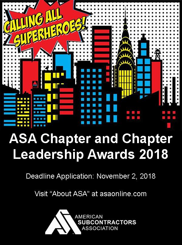 2018 ASA Chapter and Chapter Leadership Awards
