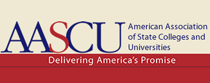 AASCU  is a Washington-based  higher education association of nearly 420 public colleges, universities and systems whose members share a learning and teaching-centered culture, a historic commitment to underserved student populations and a dedication to research and creativity that advances their regions' economic  progress and cultural development.